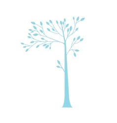 Simple blue tree vector image vector image