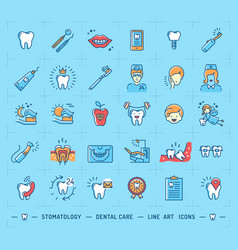 stomatology icon dental care logo children vector image