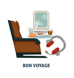 travel or trip voyage icon of airplane seat vector image vector image