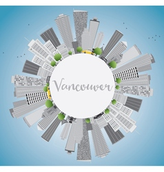 Vancouver skyline with gray buildings vector