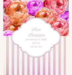 vintage roses card retro beautiful bouquet vector image vector image