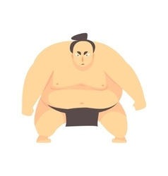Japanese fat sumo martial arts fighter fighting vector