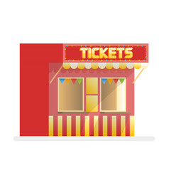 Tickets sale red kiosk cartoon vector