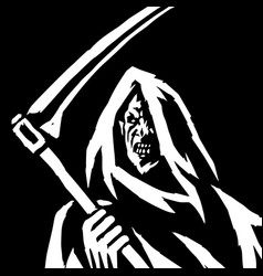 Phantom reaper head in the hood isolated flat vector