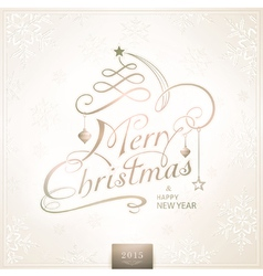 1410001 Merry Christmas Typography Handwriting vector image vector image