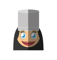 Female chef emoticon cartoon design vector