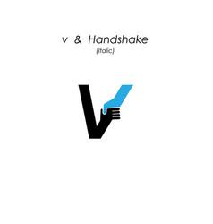 Creative v- letter icon abstract logo design vector