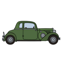 Vintage green coupe vector