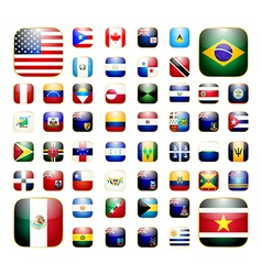 American continent app icon vector