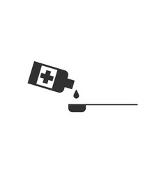 Black icon on white background syrup dose vector