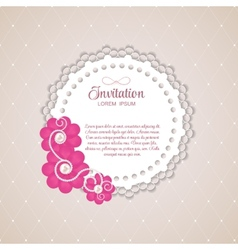 Romantic flower vintage invitation card background vector