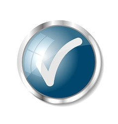 Blue web button vector