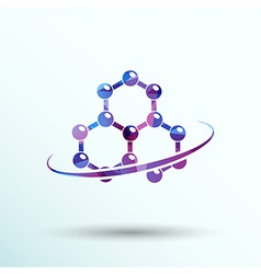 Molecule icon atom chemistry symbol element vector