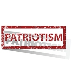Patriotism outlined stamp vector