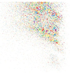 Confetti on a white square vector