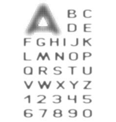 font halftone vector image