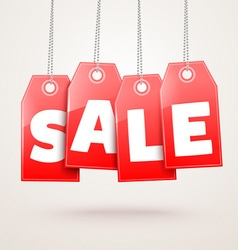 Hanging Price Tags vector image