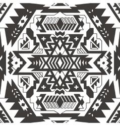 Seamless aztec pattern Ethnic monochrom vector image