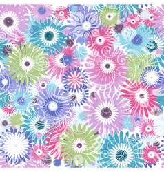 Seamless mix floral vector