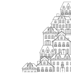 City sketch houses background for your design vector
