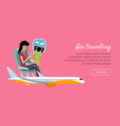 air travelling conceptual banner design vector image vector image