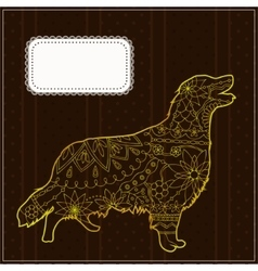 Background with the golden retriever vector