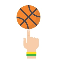 Basketball Ball On The Finger Drawing vector image