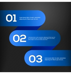 bright 3D blue banners set vector image vector image