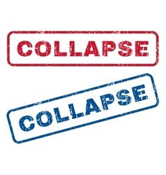 Collapse rubber stamps vector