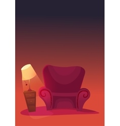 Cozy home stuff Isolated object background vector image