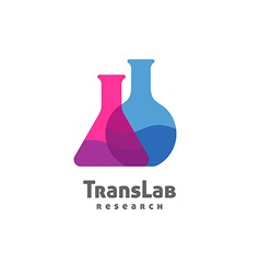 Flask triangle and round with color liquid inside vector image vector image