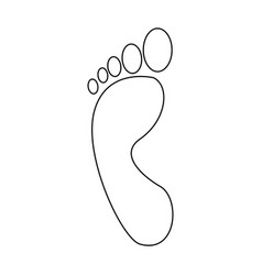 Human footprint human person icon on white vector