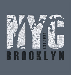 new tork brooklyn t-shirt and apparel vector image