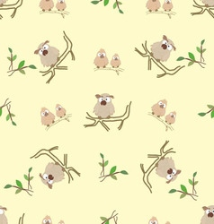 Pattern from little owls vector image