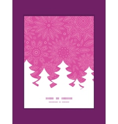 Pink abstract flowers texture christmas tree vector