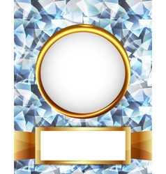 Royal diamond golden frame vector image