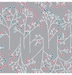 Seamless background pattern with leaves vector image vector image