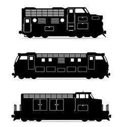 set icons lokomotiv 02 vector image vector image