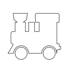 Steam locomotive - train black color path icon vector