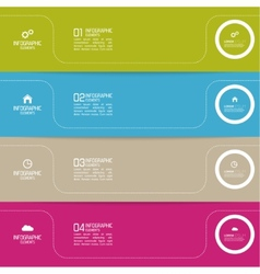 Strips of paper of different colors with pointers vector