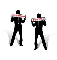 success businessman vector image vector image