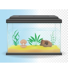 Transparent aquarium 03 vector