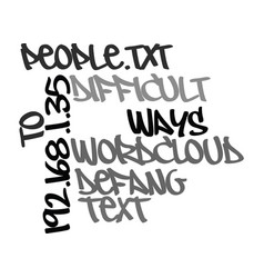 Ways to defang difficult people text word cloud vector