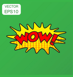 Wow comic sound effects icon business concept wow vector