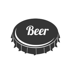 Icon caps beer drink liquid isolated vector