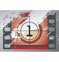Film countdown vector
