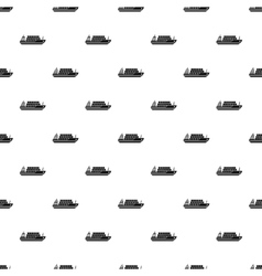Cargo ship pattern simple style vector