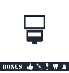 Flush bulb icon flat vector