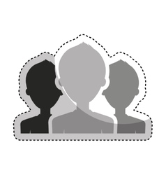 Teamwork people silhouette icon vector