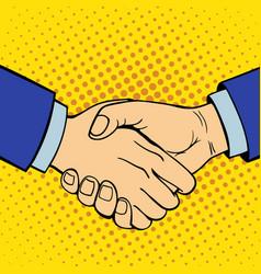 hand showing handshake deaf-mute gesture human arm vector image